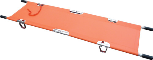 Emergency Stretcher 2 Fold With Carry Bag Orange unfolded