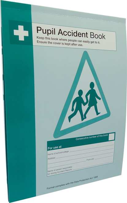 A4 GDPR Compliant Accident Record Keeping Logging Book for Schools /& Workplaces