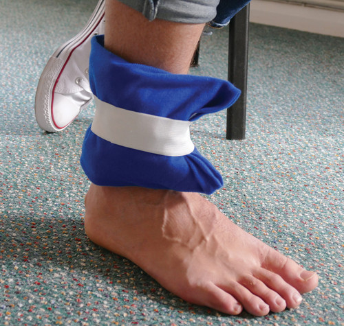 Reusable Hot and Cold Gel Pack with Wrap for Ankle Wrist and Knee Action Shot On Ankle