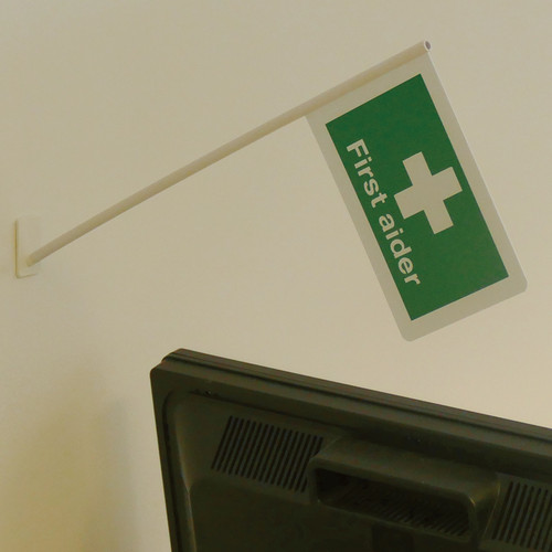 First Aider Flag With Fixings Height 50cm