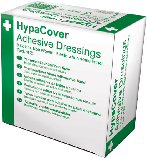Adhesive Island Dressing 8.6x6cm Pack of 25 Hypoallergenic box only
