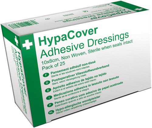 Adhesive Island Dressing 10x8cm Pack of 25 Hypoallergenic box only