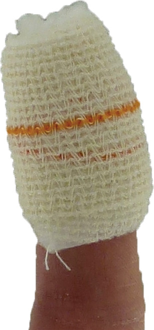 Finger Dressing with Bandage and Self Seal Adhesive Closure 3.5x3.5cm Pad action