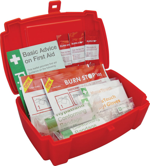 FBU1000 Burns First Aid Kit Small in Evolution Box open