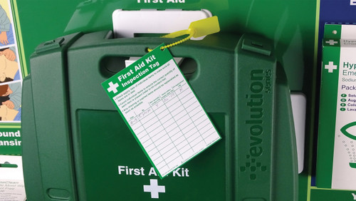 First Aid Kit Inspection Tag Write On 8.5x13cm action