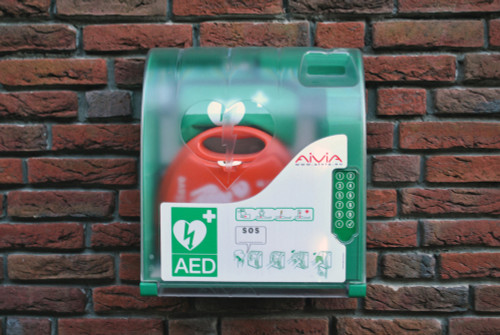 Outdoor Defibrillator Cabinet Heated Digilock Aivia Fits All AED units action