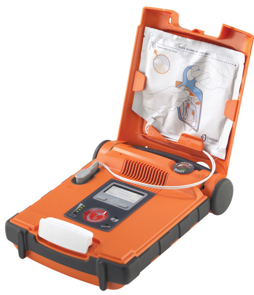 Cardiac Science Powerheart G5 Defibrillator AED Semi Auto With CPRD open