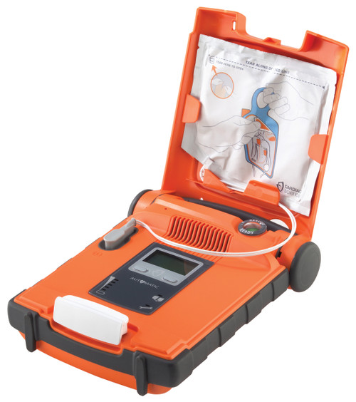 Cardiac Science Powerheart G5 Defibrillator AED Fully Auto With CPRD open