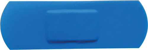 Blue Plasters 7.2x2.5cm Box of 100 Hypoallergenic Visually Detectable box