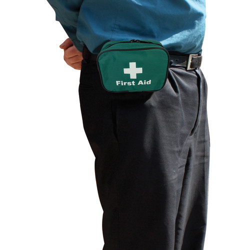 FAK5108 First Aid Pouch With Belt Loop Attachment Small Empty 16x12x6cm On Belt