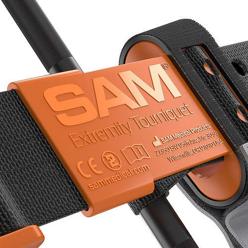 FAQ1105 SAM XT Emergency Tourniquet Black/Orange To Stop Major Blood Loss Buckle