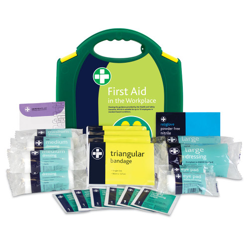 FAK1015 First Aid Kit for 1 to 10 People HSE Compliant | Aura With Contents