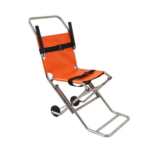 FAQ4504 Emergency Transit Chair Two Wheel Stainless Steel Front