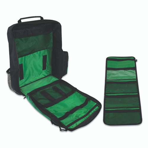 FAK5113 First Aid Medical Responder Rucksack Backpack Green Open