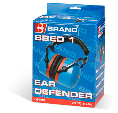 PEA1103 Premium Ear Defenders Foldable 33DB for Hearing Protection Blue Box | Beeswift