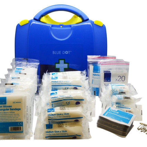 FAK1067 Catering Kitchen First Aid Kit for 1 to 50 People in Blue Viola Box With Content
