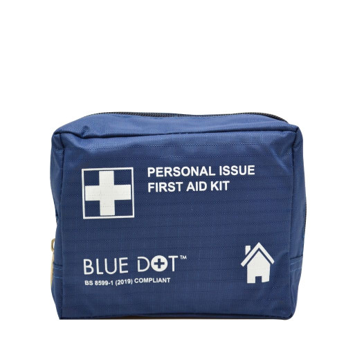 FAK2075 Personal Use First Aid Kit In Blue Zip Bag Britisth Standard BS 8599-1
