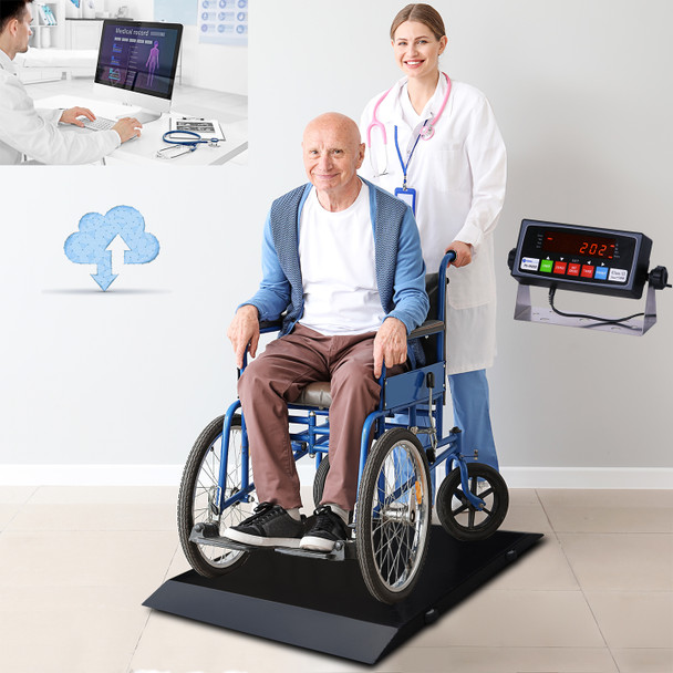 """PrimeScales  PS-1000WCS Ultra Portable Wheelchair Scale 31""""Wx33""""Lx2.5""""H + FREE SHIPPING"""