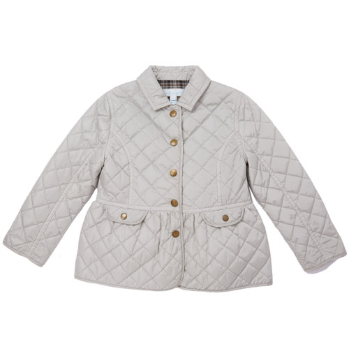 16e9ec79a0c30 Waterproof Quilted Jacket - Pale Grey