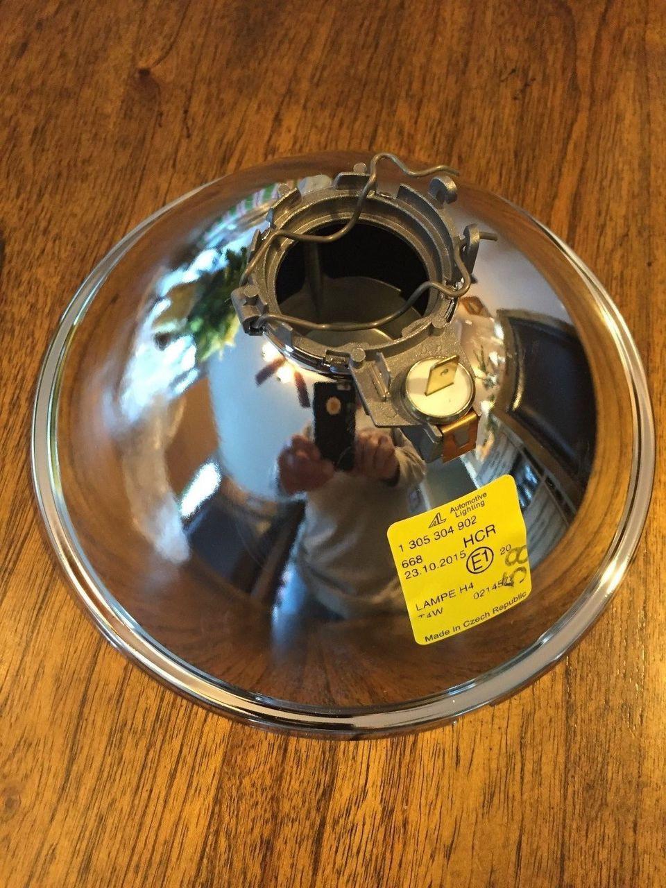 VINTAGE BMW NEW R60/6-R100, R65 HEAD LIGHT REFLECTOR NEW - 63 12 1 355 396