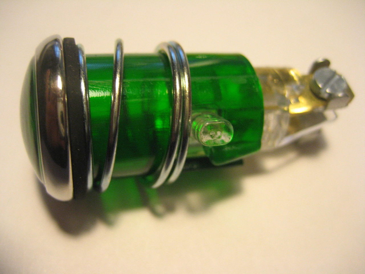 NEW VINTAGE BMW GREEN INDICATOR LIGHT FOR HEADLIGHT FITS MANY MODELS - 63 12 1 353 487
