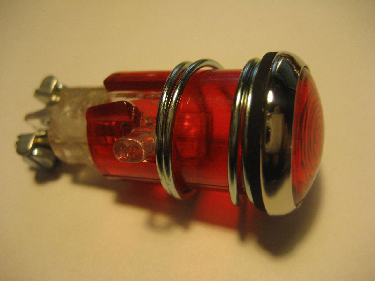 NEW VINTAGE BMW RED INDICATOR LIGHT FOR HEADLIGHT FITS MANY MODELS - 63 12 2 980 104 - 1