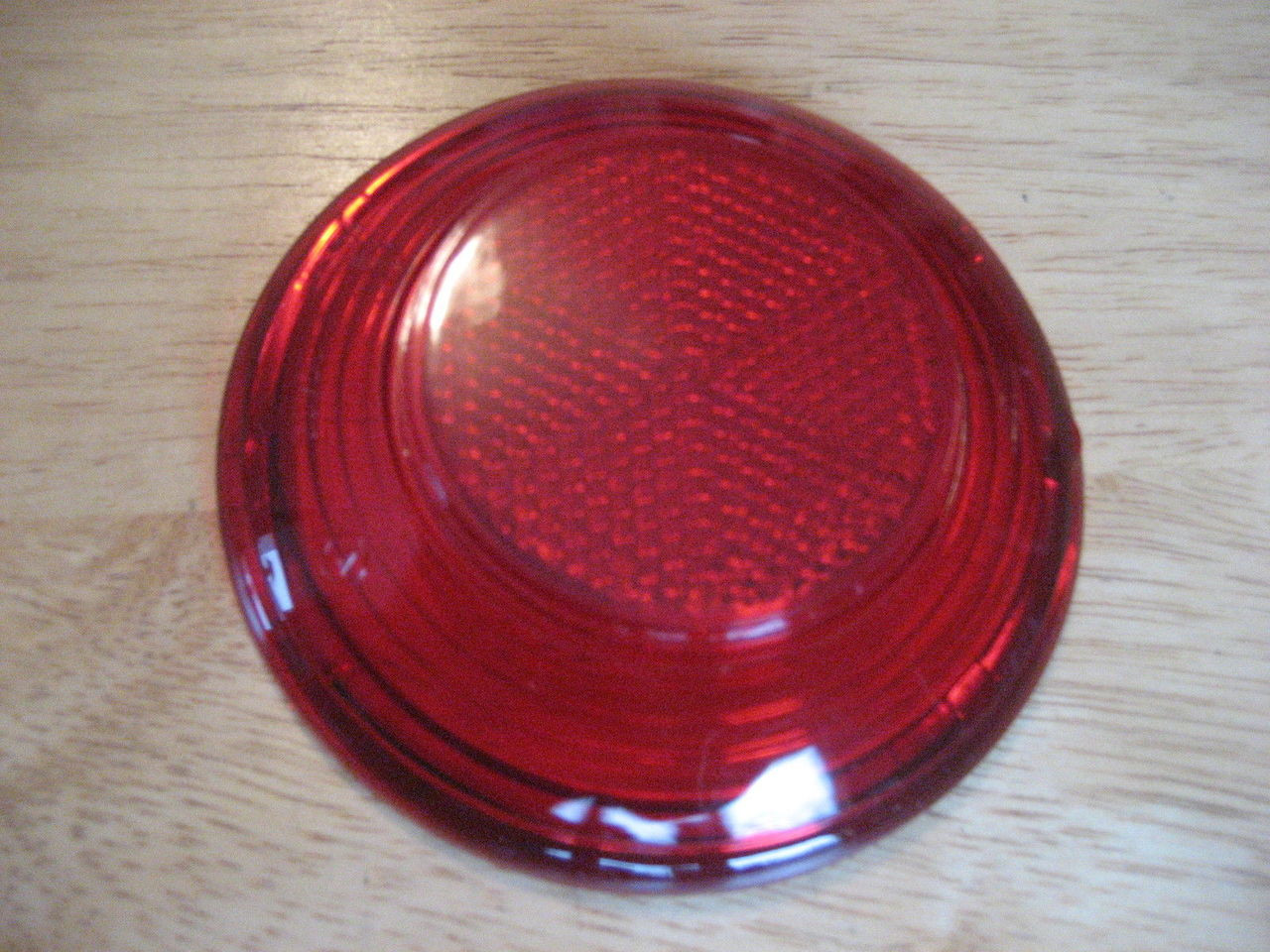 VINTAGE BMW TAIL LIGHT LENS TO FIT THE COFFEE CAN ON /2 REAR FENDERS - 63 54 8 054 136