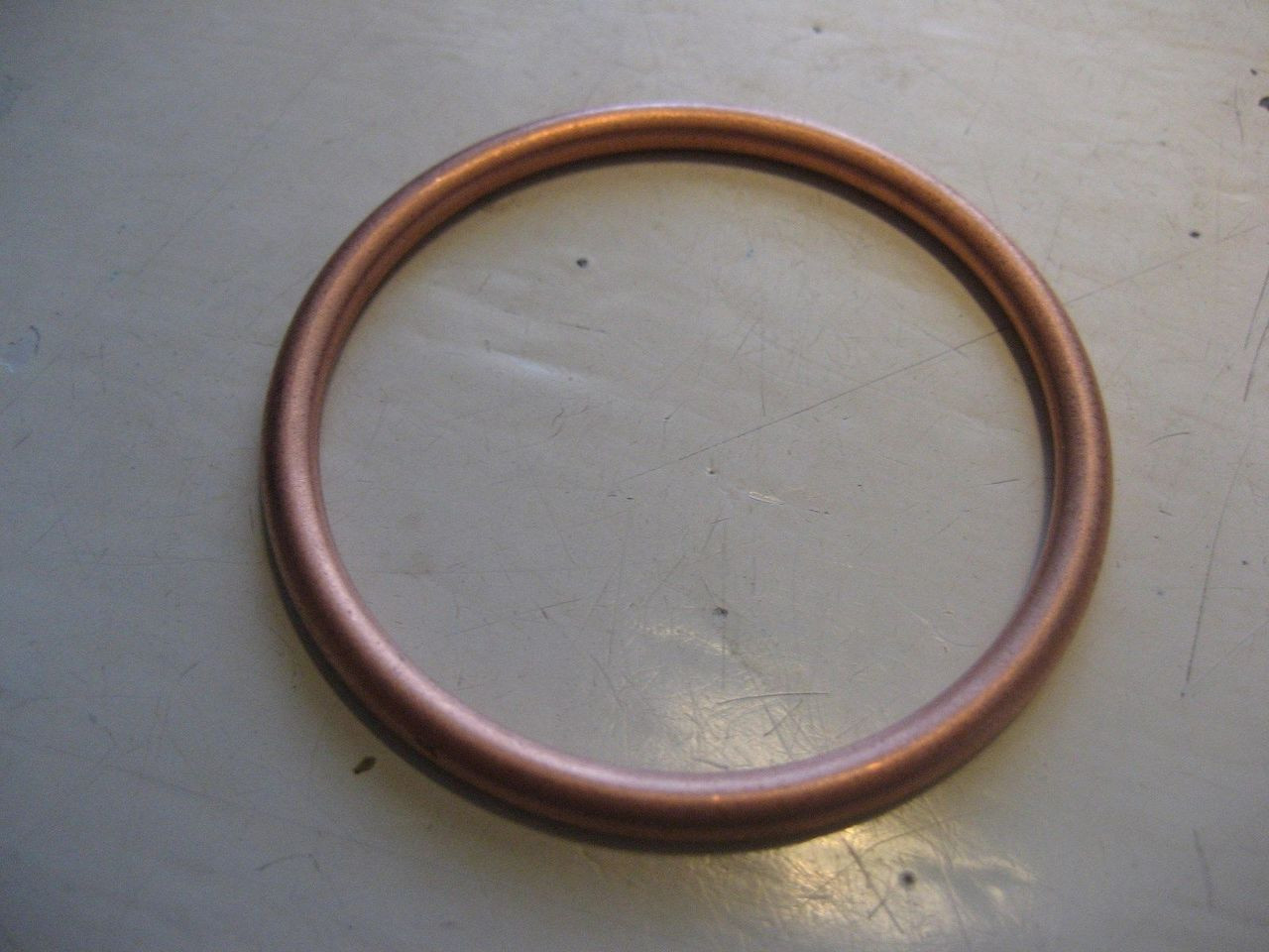 NEW VINTAGE BMW EXHAUST PIPE COLLAR COPPER CRUSH GASKET CRUSH RING R24-R60/2 NEW - 07 11 9 963 470