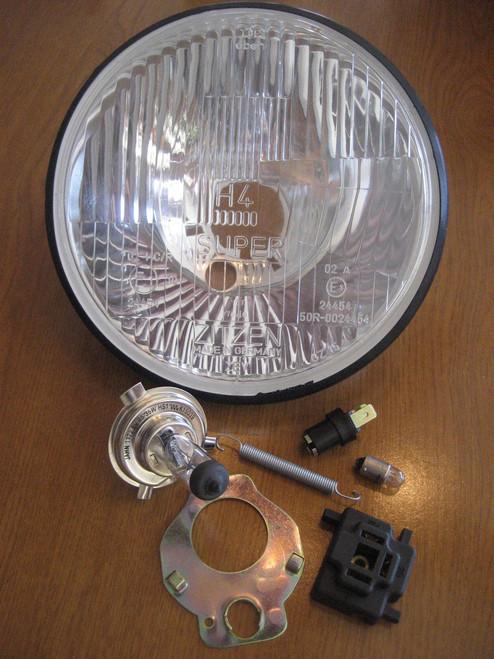 VINTAGE BMW HALOGEN HEADLIGHT CONVERSION KIT 6V W/LED AND PLUG FITS ALL MODELS - 61HALOGEN KIT