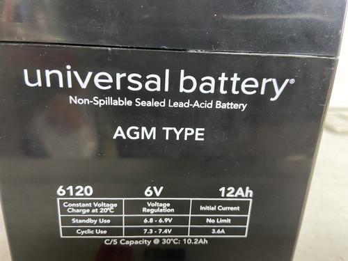VINTAGE BMW 6 VOLT AGM 12AMP BATTERY W/FUSE+CONNECTORS