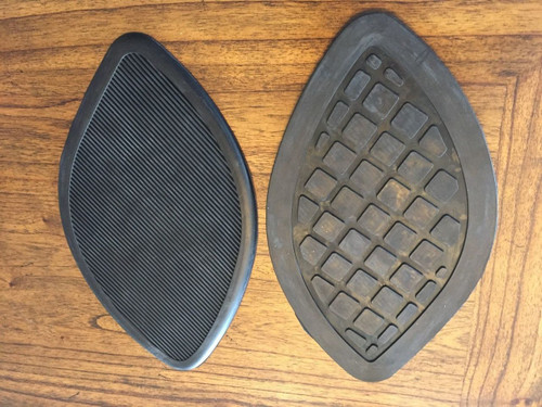 VINTAGE BMW R50/5-R90/6 LARGE GAS TANK KNEE PAD SET - 16 11 1 230 048