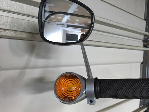 "NEW VINTAGE BMW BAR-END MIRROR. FITS 7/8"" BAR. USE WITH HELLA SIGNAL LIGHTS NEW - BAR END MIRROR - 1"