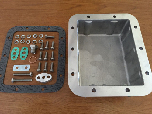 VINTAGE BMW R50-R69STWINS DEEP OIL PAN COMPLETE W/ALL NEEDED ITEMS