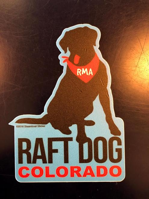 Bandana Dog - Sticker, Rocky Mountain Adventures