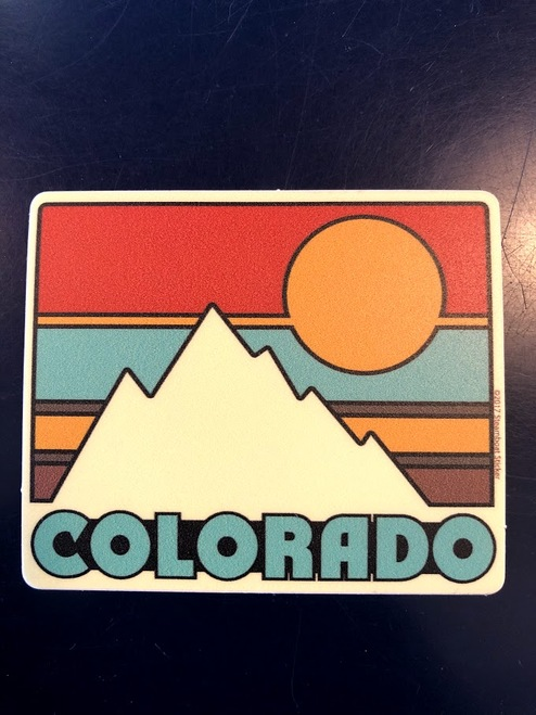 Retro Ski Pin - Sticker