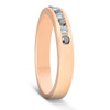 1/4ct Black & White Diamond Ring 14K Rose Gold Womens Wedding Stackable Band (G/H, I1)