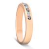 1/4ct Black & White Diamond Ring 14K Rose Gold Womens Wedding Stackable Band (G/H, I1)