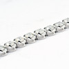 "15 Ct Diamond Tennis Bracelet 18k White Gold 7"" Double Locking Clasp (H-I, I2)"