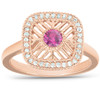 1/2 Ct Rose Gold 14k Ruby Vintage Right Hand Ring (IJ, SI)