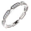 1/4 Ct Diamond Eternity Ring 10k White Gold Womens Stakable Wedding Band (H/I, I1-I2)