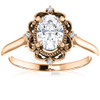 1 Ct Oval Diamond Engagement Ring 14k Rose Gold (G/H, SI1-SI2)