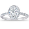 1 1/3 Ct TDW Oval Halo Diamond Engagement Ring 14k White Gold (G/H, SI1-SI2)