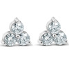 1 Ct 3 Stone Diamond Earrings 14K White Or Yellow Gold (I/J, I1-I2)