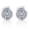 1/4 Ct Halo Diamond Studs 10K White Gold (G/H, I1)
