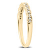 1/4 cttw Diamond Stackable Womens Wedding Ring 14k Yellow Gold (I/J, I2-I3)