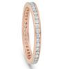 1/2 Ct Diamond Eternity Ring 14k Rose Gold Channel Set Wedding Band (I/J, I2-I3)