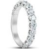 1 3/8 Ct Diamond Wedding Ring U Prong Womens Anniversary Band 14k White Gold (H/I, )