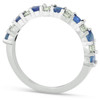 1 1/2 Ct Blue Sapphire & Diamond Wedding Ring 14k White Gold (H/I, )