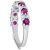 1 1/2 Ct Ruby & Diamond Wedding Ring 14k White Gold (H/I, )