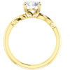 1 1/4 ct Solitaire Moissanite Vine Engagement Ring 14k Yellow Gold (H/I, VVS1)